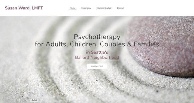 Psychotherapy Practice   Weebly Brochure Site & Headshot Photography