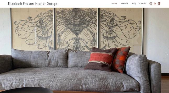 Interior Design Services   Squarespace Portfolio Site & Blog