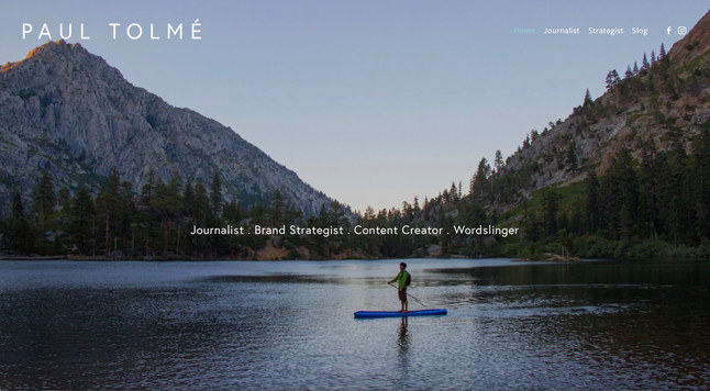 Journalist & Brand Strategist   Squarespace Portfolio Site
