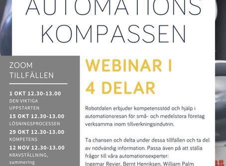 Webinar-serie om Automationskompassen