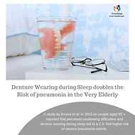 denture wearing during sleep