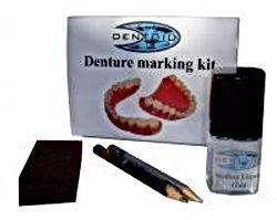 Denture marking kit