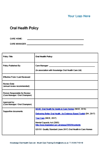 oral health policy