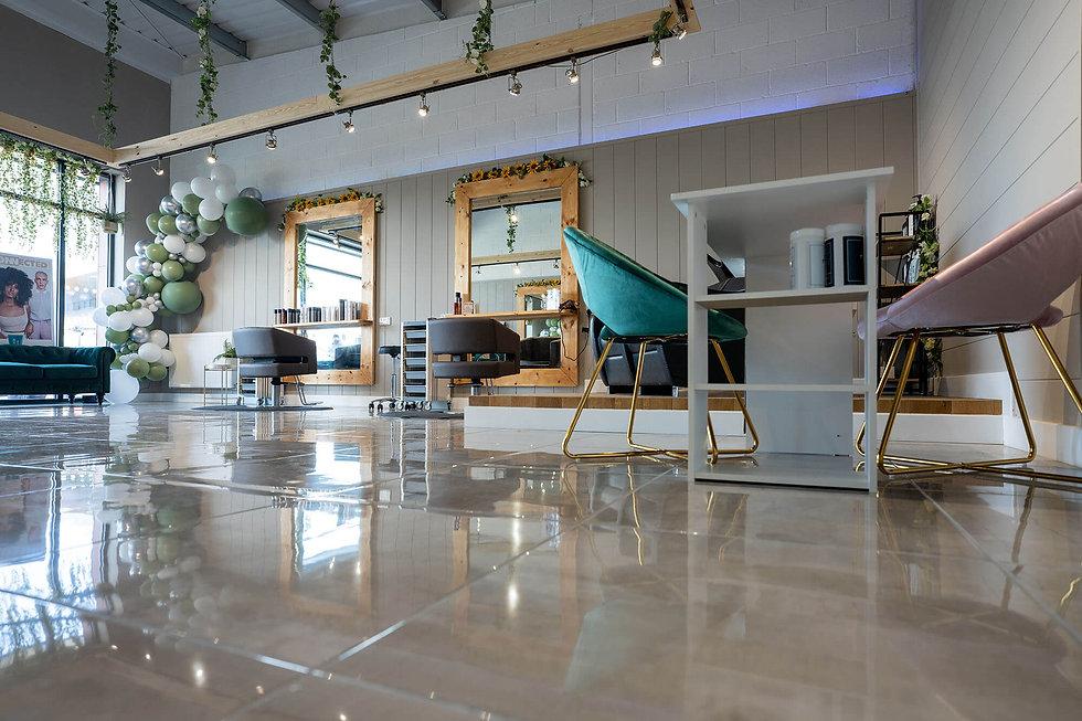 Inside The Platinum Lounge hair salon