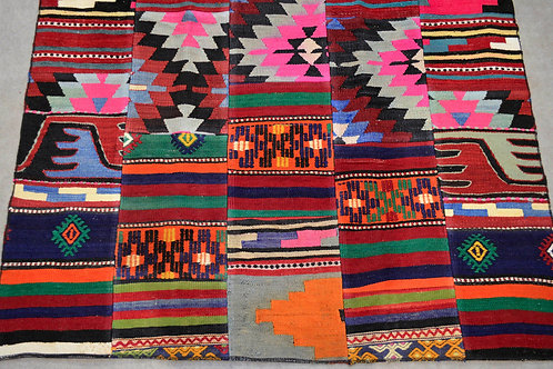 One of a Kind Turkish Patchwork Rug