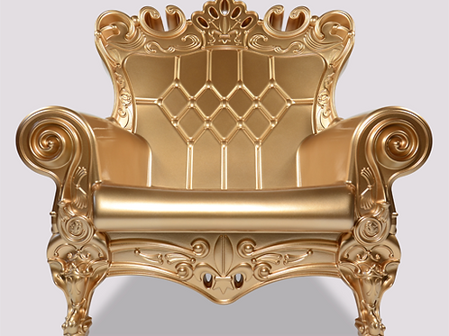 Queen of Love Armchair - Gold Glimmer