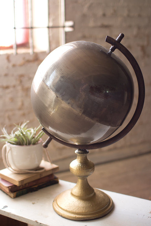 Mixed Metal Globe