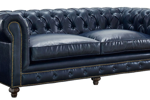 Driskill Leather Tufted Sofa