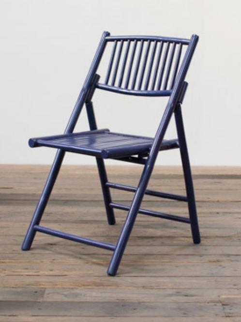 Navy Bamboo Chair