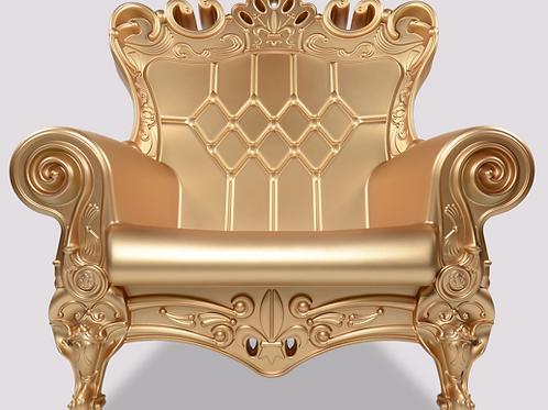 Queen of Love Armchair - Gold Matte