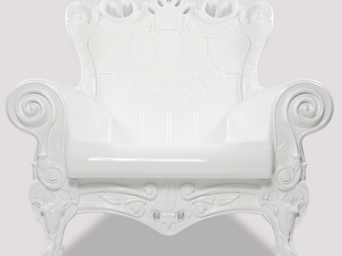 Queen of Love Armchair - Pure White