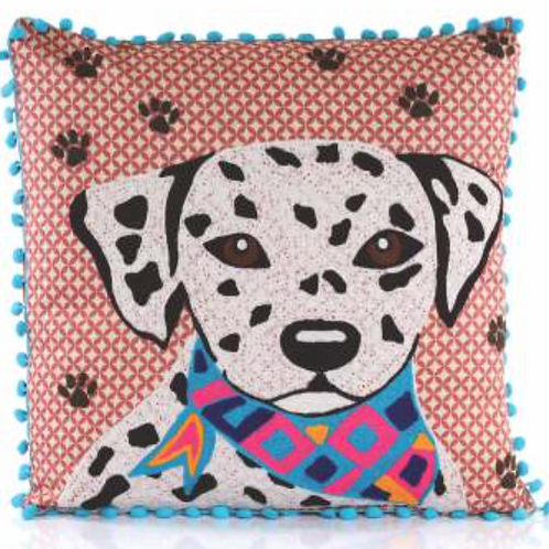 Dalmatian Embroidered Pillow