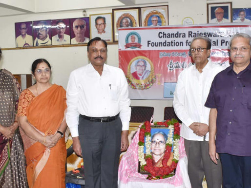Condolence meeting to mourn the demise of Smt. Abburi Chaya Devi