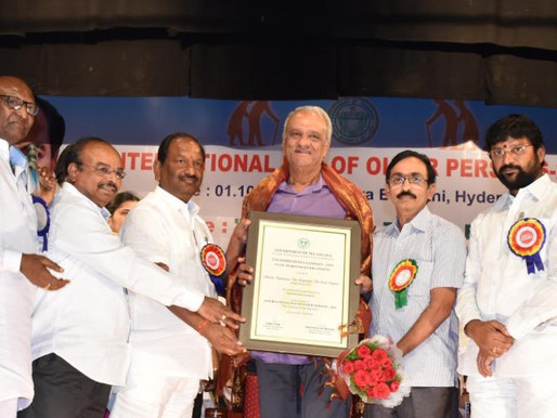 CR Foundation receives Award for Best Institution providing services to senior citizens