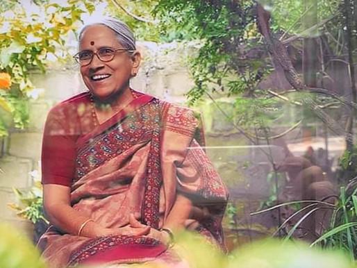 Demise of Smt. Abburi Chaya Devi, well-known writer and recipient of Sahitya Akademi Award