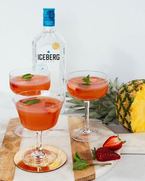 Pineapple Strawberry Martini