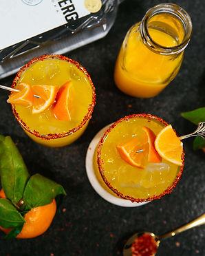 Spicy Turmeric Clementine Margarita