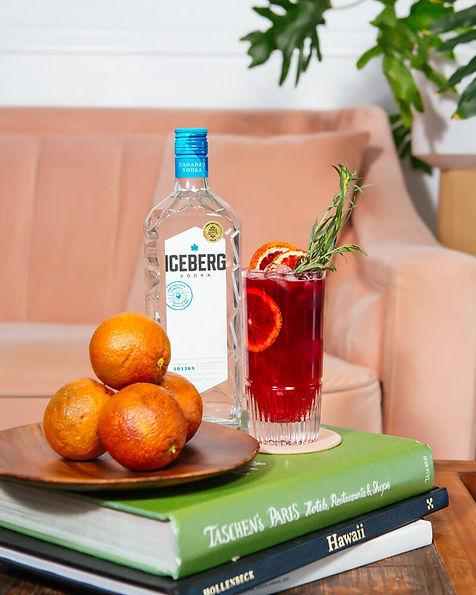 Spring Beet Juice & Blood Orange Spritz