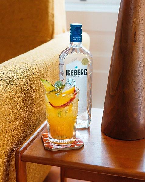 Peach, Pineapple & Sage Vodka Smash