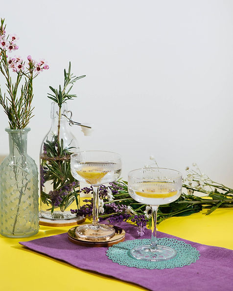 Lavender Rosemary Infused Martini