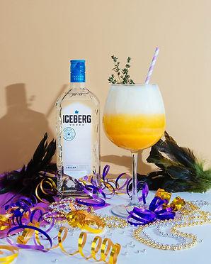 Mango Mardi Gras Bellini