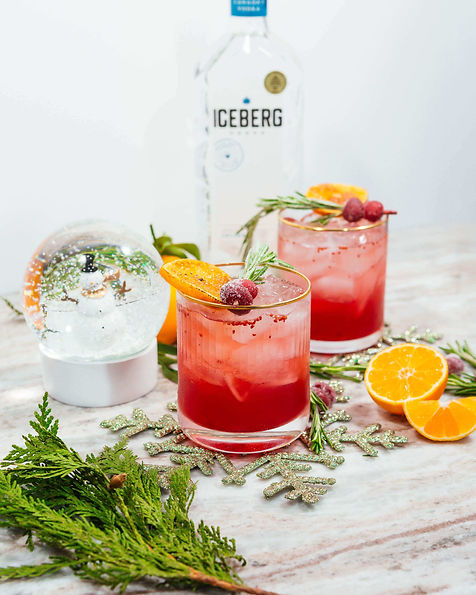 Spiced Clementine and Cranberry Spritz