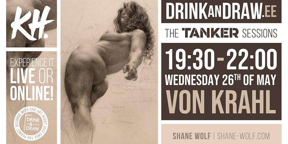 Drink & Draw - TANKER sessions - LIVE & ONLINE - 26.05