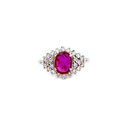 Natural Ruby Diamond Ring