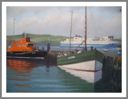 "Lerwick Lifeboat and ""Swan"""