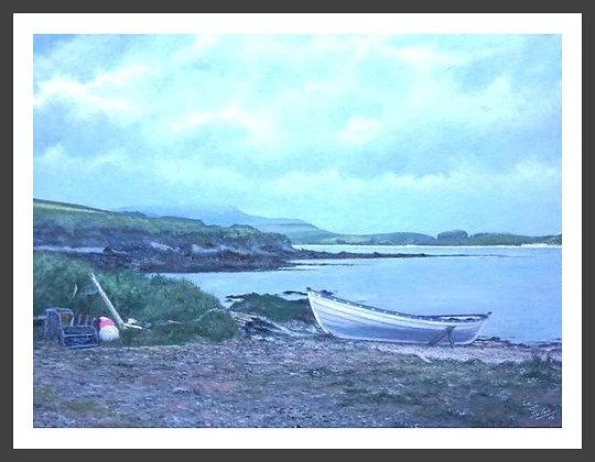 Yoal on Beach at Ireland
