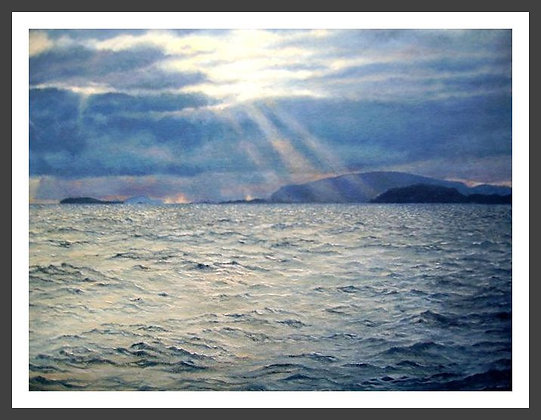 Sunbeams over Fitful Head
