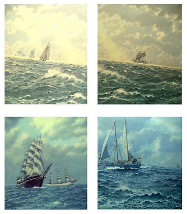 "A6 Greeting Cards (Pack of 4 ""Tall Ships"" Assorted)"