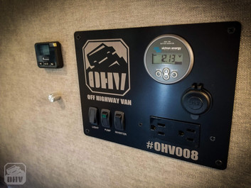 Promaster Van Camper Electrical Switch Panel