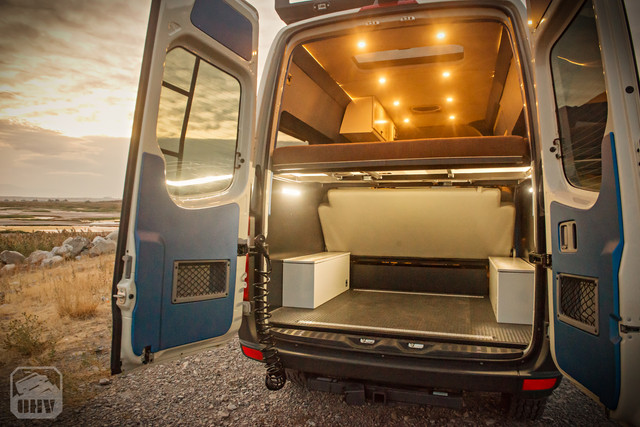 Sprinter Van Camper Storage Rear View