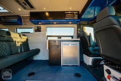 Sprinter Van Camper Passenger Seating and Kitchen