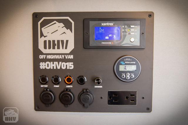 Sprinter Van Camper Electrical Switch Panel