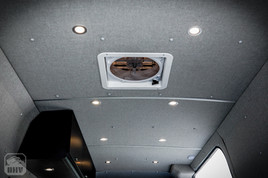 Sprinter Van Camper Ceiling Lights and Fan