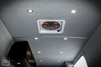 Sprinter Van Camper Ceiling Lights and Fan