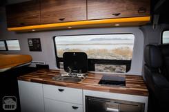 Sprinter Van Camper Large Kitchen