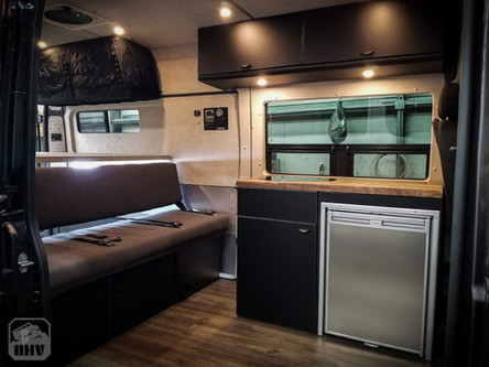 Promaster Van Camper Kitchen and Seating