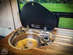 Promaster Van Camper Sink and Stove