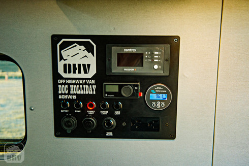 Sprinter Van Camper Electrical Panel and Switches
