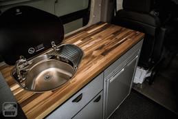 Sprinter Van Camper Kitchen Sink & Stove
