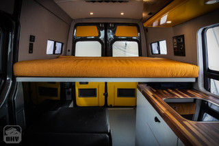 Sprinter Van Camper Elevated Bed