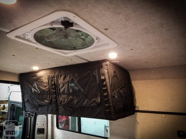 Promaster Van Camper Ceiling Lights and Fan