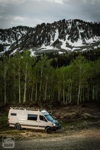 Sprinter Van Camper In Mountains