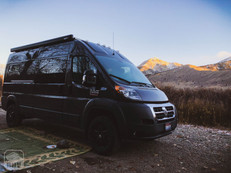 Promaster Van Camper Exterior View Mountains