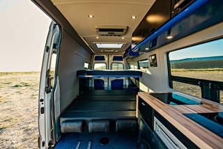 Sprinter Van Camper Interior Sleeping Setup