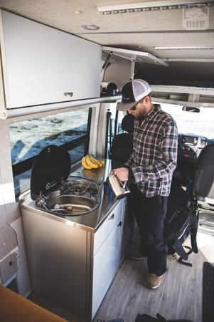 Promaster Van Camper Cooking Setup