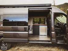 Promaster Van Camper Slider Door Kitchen View
